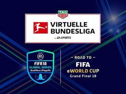 Die TAG Heuer Virtuelle Bundesliga vergibt Wildcards für die EA SPORTS FIFA 18 Global Series Playoffs.