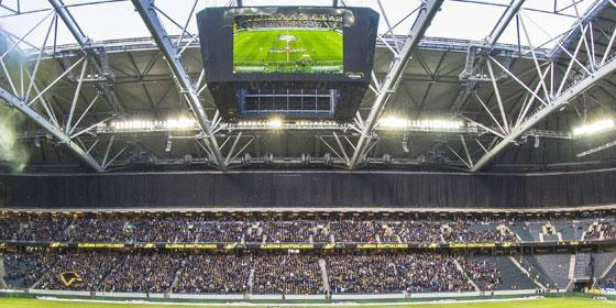 Austragungsort des Europa-League-Finals 2017: Die Friends Arena in Stockholm.
