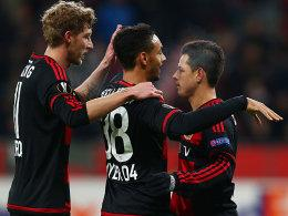Stefan Kießling, Karim Bellarabi und Chicharito