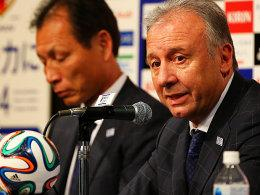 Japans Nationaltrainer Alberto Zaccheroni