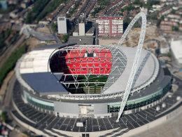 Finaler Schauplatz der EM 2020: das modernisierte Wembley-Stadion in London.