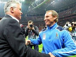 Guus Hiddink und Berti Vogts