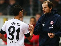 Shawn Parker und Trainer Thomas Tuchel
