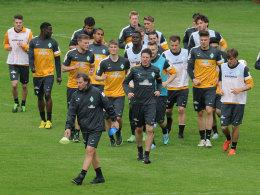 Wolfgang Rolff am Donnerstag im Training
