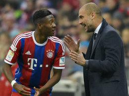David Alaba und Pep Guardiola