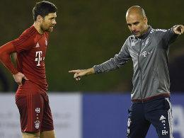 Xabi Alonso und Pep Guardiola