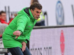 Wolfsburgs Trainer Dieter Hecking.