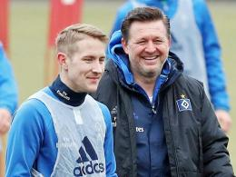 Lewis Holtby und Christian Titz
