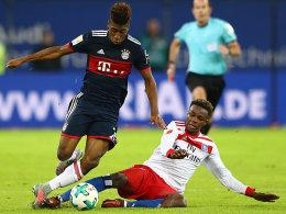 Kingsley Coman (links) und Gideon Jung