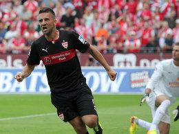 Ibisevic (li.) traf auch in Mainz