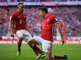 Franck Ribery (links) und Robert Lewandowski