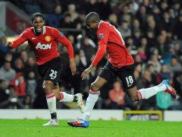 Ashley Young und Antonio Valencia