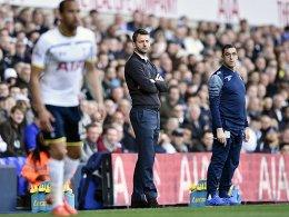 Im Fokus an der White Hart Lane: Villa-Coach Tim Sherwood (Mi.).
