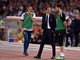 Giorgio Chiellini (links), Massimiliano Allegri (Mitte) und Gianluigi Buffon