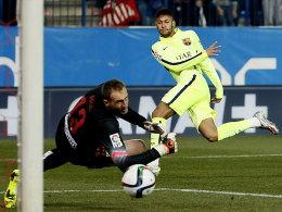 Jan Oblak, Neymar (re.)