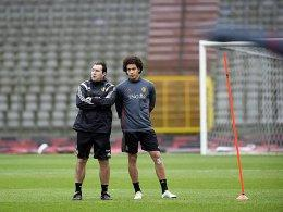 Marc Wilmots und Axel Witsel