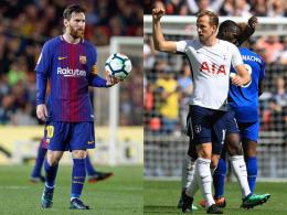 Lionel Messi und Harry Kane (v.li.)