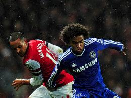 Walcott (links) und Willian