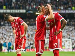 Lewandowski, Ribery und Alaba nach dem Champions-League-Aus in Madrid 2017/18