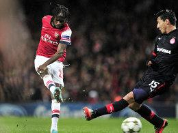Gervinho (li., Arsenal London)