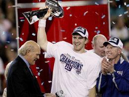 Eli Manning (links) und Tom Coughlin