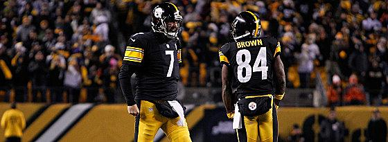 Ben Roethlisberger (links) und Antonio Brown