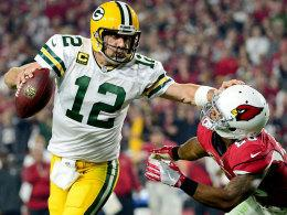 Packers-Quarterback Aaron Rodgers, hier gegen die Arizona Cardinals.