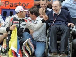 Pastor Maldonado und Frank Williams