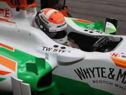 Adrian Sutil im Force-India-Cockpit