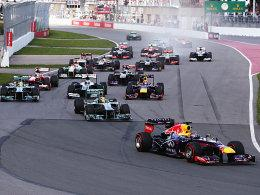 Start in Kanada, Vettel (re.) bleibt vorne