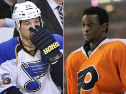 Chris Stewart (li.) und Wayne Simmonds