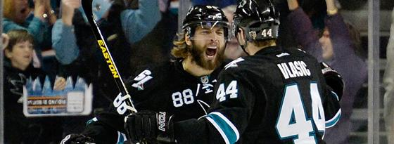 Brent Burns & Marc-Edouard Vlasic