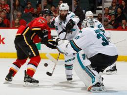 Lance Bouma, Brent Burns & Martin Jones