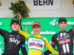 Geraint Thomas, Simon Spilak und Tom Dumoulin