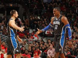 Personalumbruch bei den Magic: Dwight Howard will immer noch nach Brooklyn, Ryan Anderson (li.) zieht's nach New Orleans.