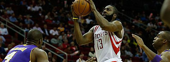 "Tanzte durch die Reihen der Lakers: ""The Beard"" James Harden."