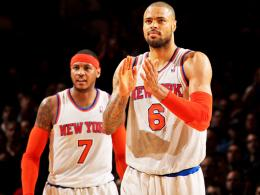 Carmelo Anthony, Tyson Chandler (v.re.)