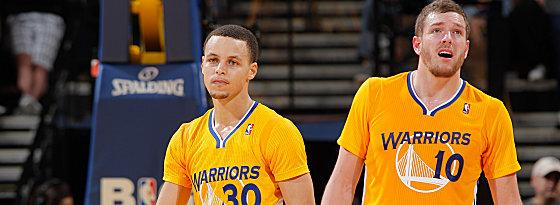 Stephen Curry und David Lee