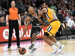 Bambergs Ricky Hickman gegen Khimkis Malcolm Thomas