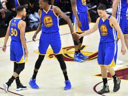 Stephen Curry, Kevin Durant und Klay Thompson
