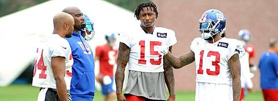 Brandon Marshall und Odell Beckham Jr. (re.)