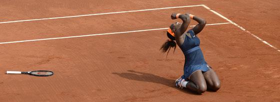Serena Williams nach dem Matchball