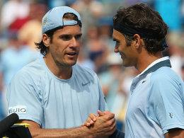 Tommy Haas und Roger Federer