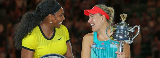 Serena Williams und Angelique Kerber