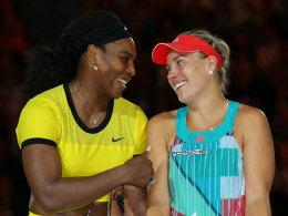 Serena Williams und Angelique Kerber nach dem Australian-Open-Finale