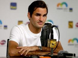 Roger Federer am Donnerstag in Miami
