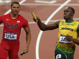 Ryan Bailey und Usain Bolt