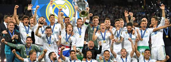 Dritter Titel in Serie: Real Madrid jubelt auch 2018.