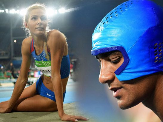 Darya Klishina und Ashton Eaton (re.)