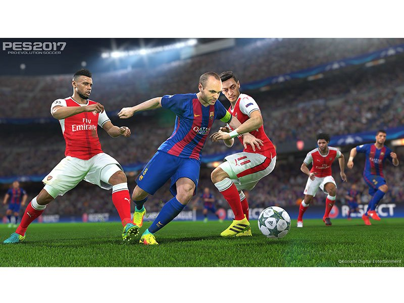 jubel und zweik mpfe der fc barcelona in pes 2017 pes bildergalerie kicker. Black Bedroom Furniture Sets. Home Design Ideas